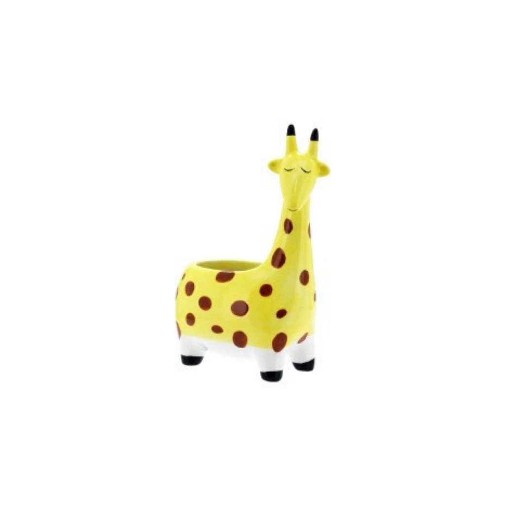 Our George Giraffe Pot is the perfect pop of colour and fun you need in your home or garden! Drainage hole and plug. Measures Approx: 11.6x7.4x16.6cm. Ceramic.| Bliss Gifts & Homewares | Unit 8, 259 Princes Hwy Ulladulla | South Coast NSW | Online Retail Gift & Homeware Shopping | 0427795959, 44541523