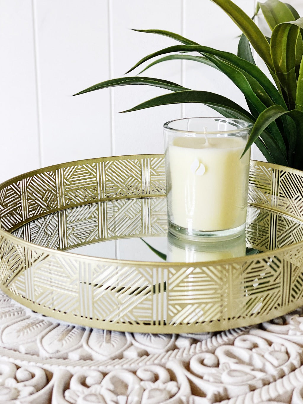 Bring a touch of elegance to your home décor with our Gold Mirror Tray with raised edges. Holding your decorative items in style, this tray is also best for displaying perfumes or jewellery. Shop online or instore. AfterPay available. Australia wide Shipping. | Bliss Gifts & Homewares | Unit 8, 259 Princes Hwy Ulladulla | South Coast NSW | 0427795959, 44541523