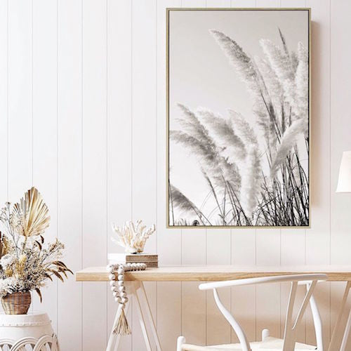 Give your home an instant update with our Grove Pampass Grass Canvas.This beautiful print comes framed in a natural timber look shadow frame and will add style and warmth to any space. The natural tones make it the perfect accent piece.| Bliss Gifts & Homewares | Unit 8, 259 Princes Hwy Ulladulla | South Coast NSW | Online Retail Gift & Homeware Shopping | 0427795959, 44541523