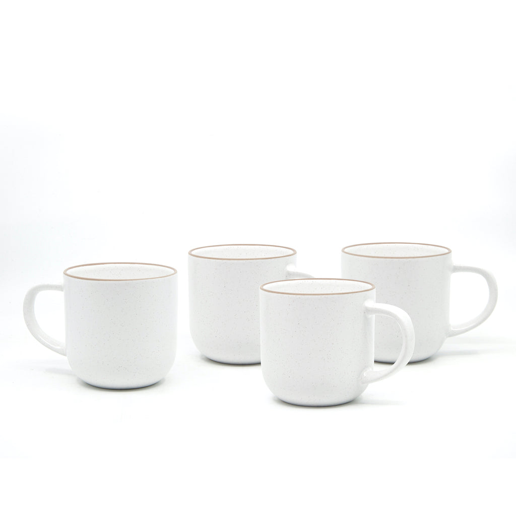 Ideal for everyday use is Salt&Pepper's four-piece HANA mug set in white. Each mug has a simple yet modern shape with a slight speckle tone throughout and is finished with a natural-coloured rim.| Bliss Gifts & Homewares | Unit 8, 259 Princes Hwy Ulladulla | South Coast NSW | Online Retail Gift & Homeware Shopping | 0427795959, 44541523
