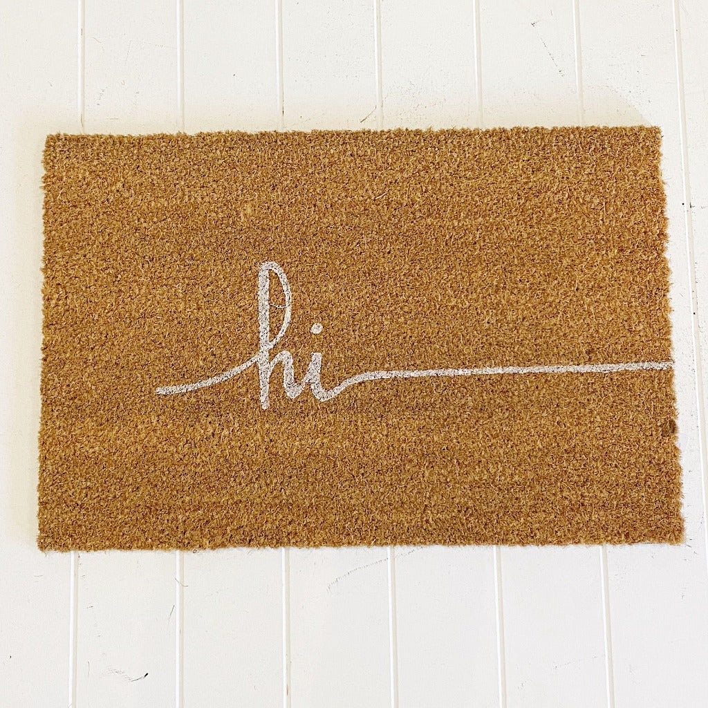 Our new Hi Door Mat is the perfect way to create a beautiful feel to your home before your guests even step foot inside with it's modern design. Style your front entrance, the first impression of your home, with our range of affordable door mats.| Bliss Gifts & Homewares | Unit 8, 259 Princes Hwy Ulladulla | South Coast NSW | Online Retail Gift & Homeware Shopping | 0427795959, 44541523