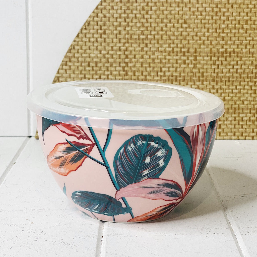 Lunch2Go Bowl with Lid – Paradise - Salt&Pepper - airtight 15x9cm bowl in Paradise - BPA-free lid with a vent - Microwave and dishwasher safe - porcelain bowl is ideal for work or travel. |Bliss Gifts & Homewares - Unit 8, 259 Princes Hwy Ulladulla - Shop Online & In store - 0427795959, 44541523 - Australia wide shipping