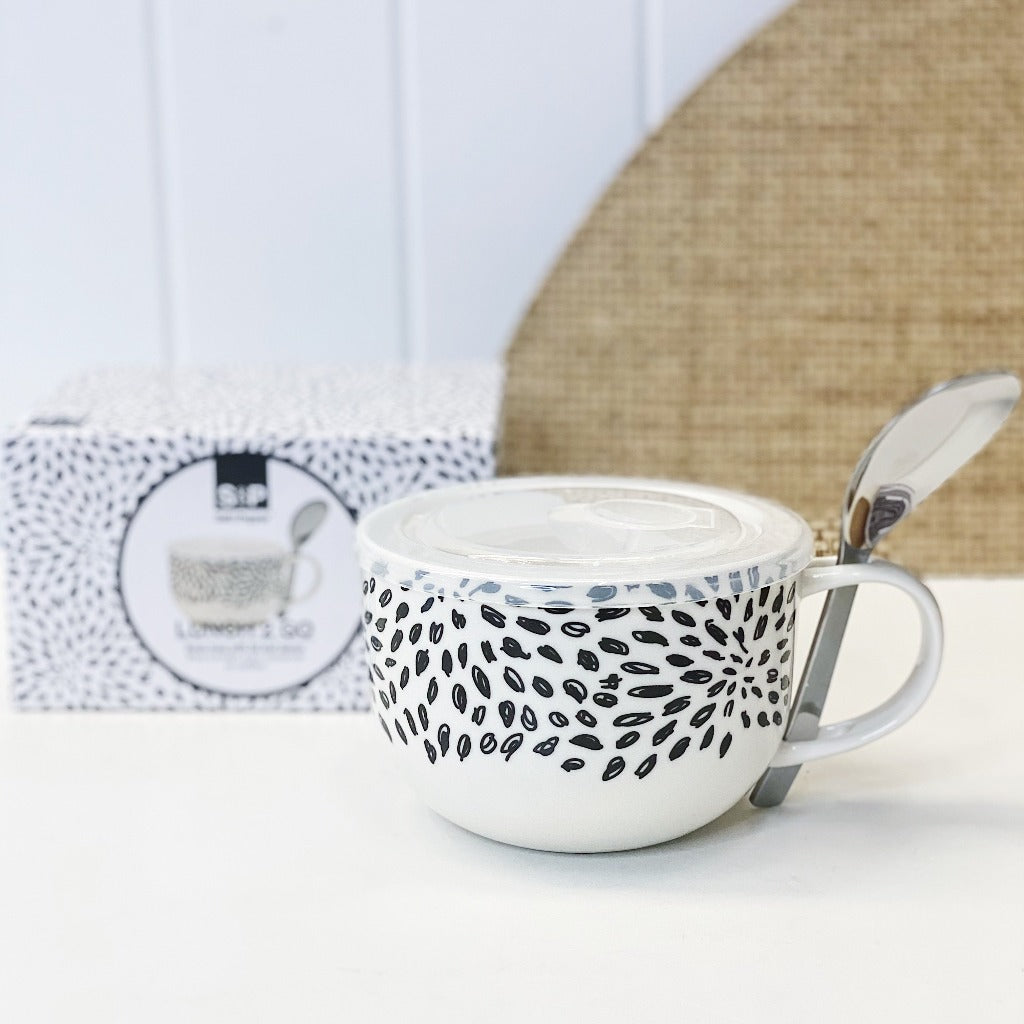 Crafted from new bone china, the LUNCH2GO Soup Mug & Spoon - Burst by Salt&Pepper comes with an airtight, vented BPA free lid and a stainless steel spoon. 520ml. Shop Online. AfterPay Available. Australia Wide Shipping | Bliss Gifts & Homewares - Unit 8, 259 Princes Hwy Ulladulla - 0427795959, 44541523