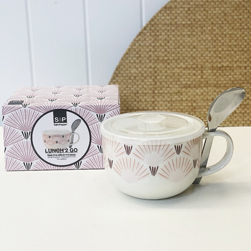 Crafted from new bone china, the LUNCH2GO Soup Mug & Spoon - Morris by Salt&Peper comes with an airtight, vented BPA free lid and a stainless steel spoon. 520ml. Shop Online. AfterPay Available. Australia Wide Shipping | Bliss Gifts & Homewares - Unit 8, 259 Princes Hwy Ulladulla - 0427795959, 44541523