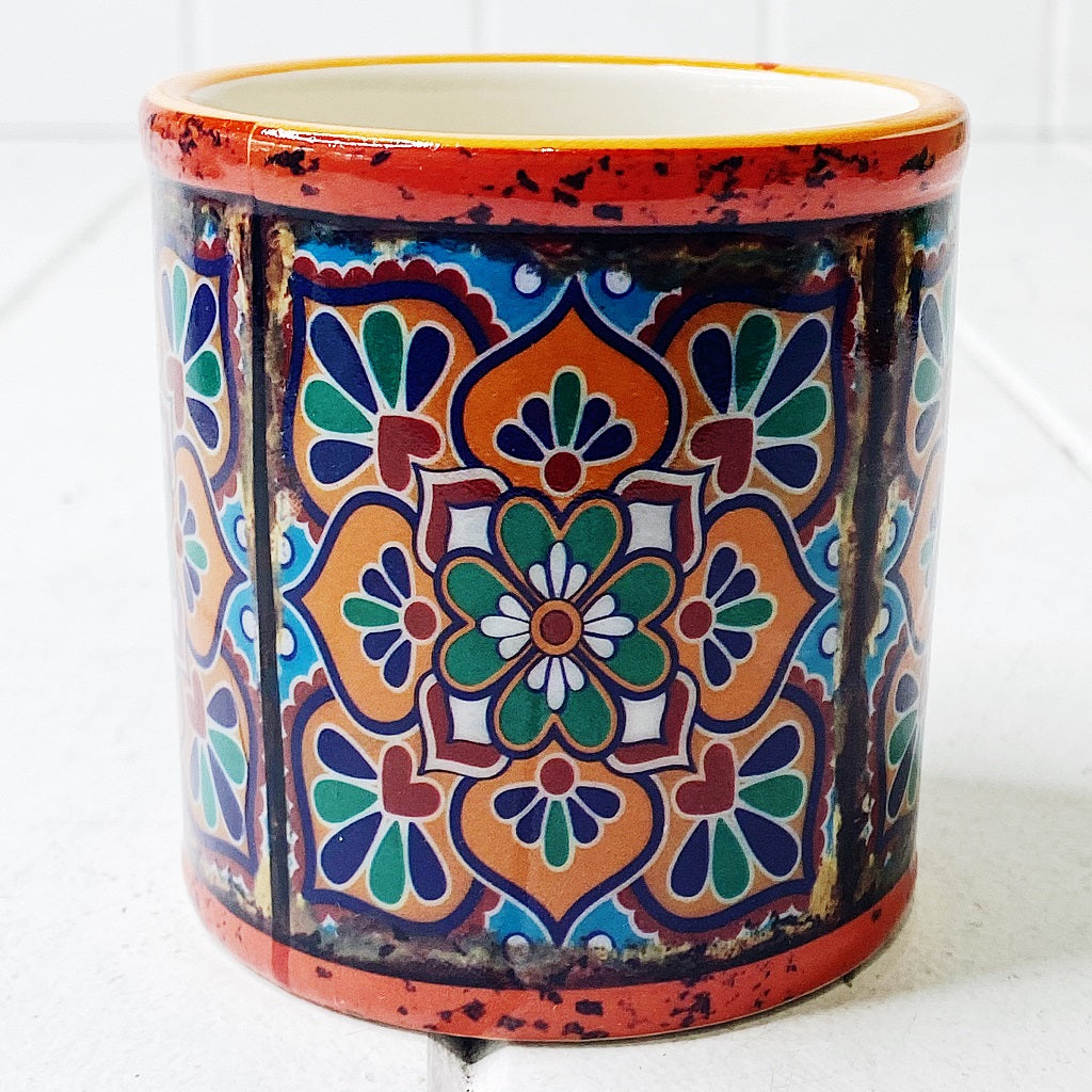 Our gorgeous Moroccan Round Pots - Small create a unique style with bold shapes and bright shades of blues, reds and browns.Measures: 7.5 x 7.5cm. Ceramic.| Bliss Gifts & Homewares | Unit 8, 259 Princes Hwy Ulladulla | South Coast NSW | Online Retail Gift & Homeware Shopping | 0427795959, 44541523