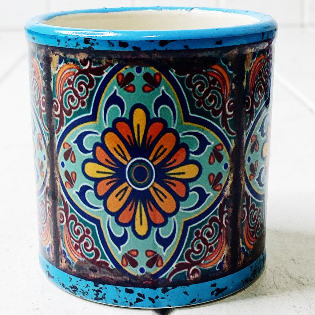Our gorgeous Moroccan Round Pots - Large create a unique style with bold shapes and bright shades of blues, reds and browns. Measures: 13.5x12.5cm. Ceramic.| Bliss Gifts & Homewares | Unit 8, 259 Princes Hwy Ulladulla | South Coast NSW | Online Retail Gift & Homeware Shopping | 0427795959, 44541523