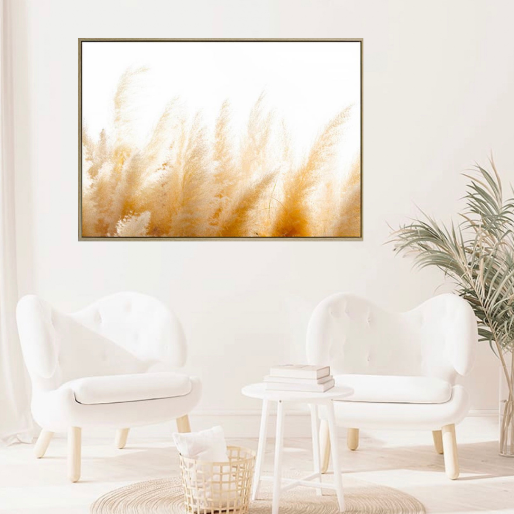 Give your home an instant update with our Peppermint Pampas Grass Canvas. This beautiful print comes framed in a natural timber look shadow frame and will add style and warmth to any space. The natural tones make it the perfect accent piece.| Bliss Gifts & Homewares | Unit 8, 259 Princes Hwy Ulladulla | South Coast NSW | Online Retail Gift & Homeware Shopping | 0427795959, 44541523