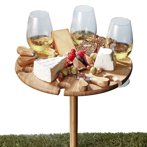 Made from lightweight bamboo, this circular tray includes four stainless steel cheese knives, screw legs in two heights and six openings to safeguard your wine-stemmed glasses – with room for fine cheeses in the middle. BLISS Gifts & Homewares - Online & In-store. AfterPay now available.| Bliss Gifts & Homewares | Unit 8, 259 Princes Hwy Ulladulla | South Coast NSW | Online Retail Gift & Homeware Shopping | 0427795959, 44541523