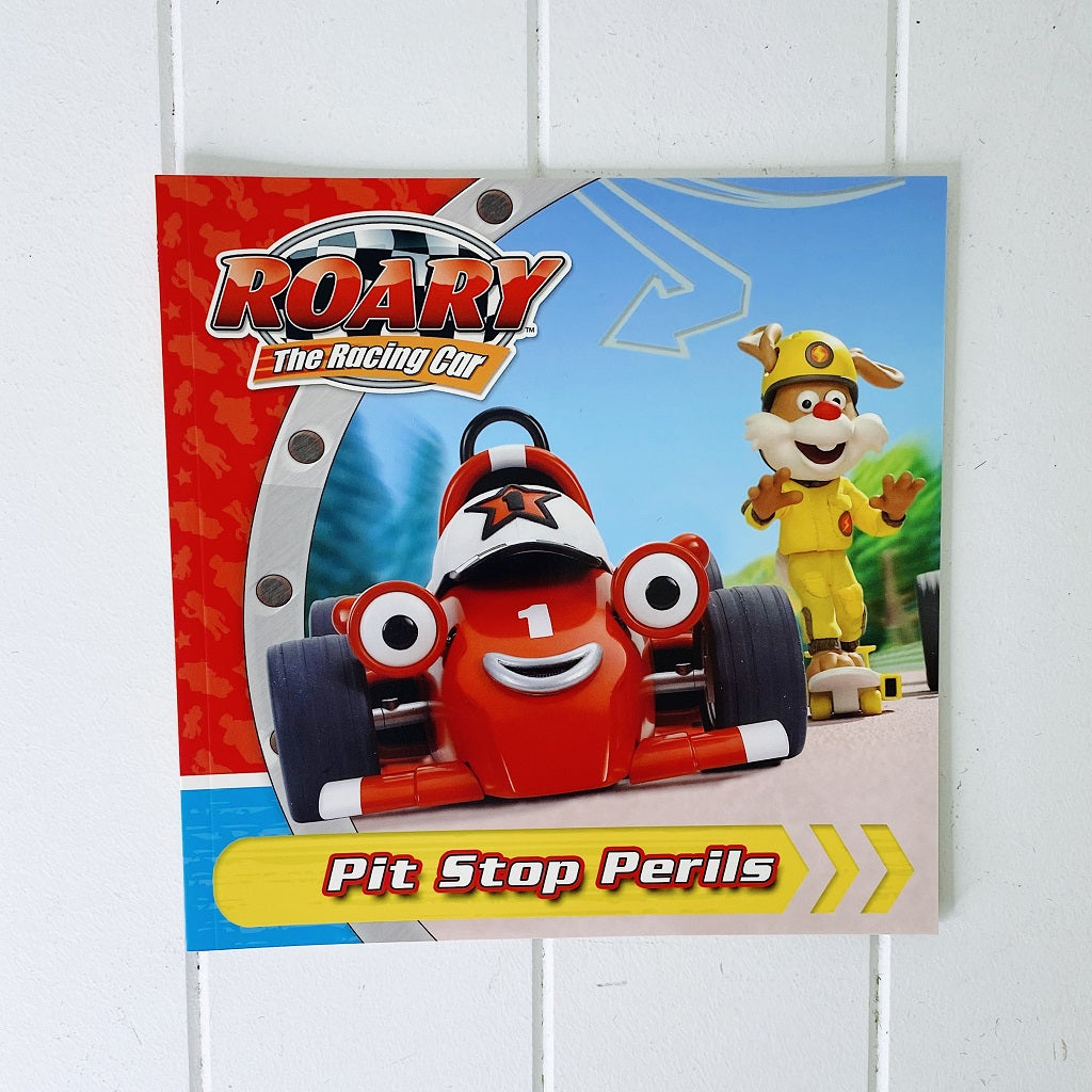 Pit Stop Perils. Roary and Maxi are getting ready to race to see which one is the fastest. Roary chooses Flash to be part of his pit team but flash makes a silly mistake. When Roary loses a wheel, he cant possibly still win the race. Or can he? Shop online or instore. AfterPay available. Australia wide Shipping. | Bliss Gifts & Homewares | Unit 8, 259 Princes Hwy Ulladulla | South Coast NSW | 0427795959, 44541523