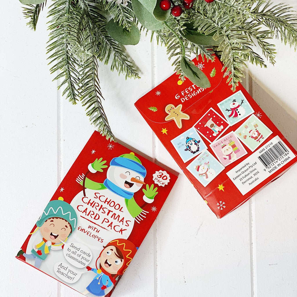 Share the Christmas Spirit with Family and Friends by sending them a card from our Christmas 2019 range. School Christmas Cards made easy! 6 cute styles. Pack of 30 cards with envelopes. 8 x 8cm. Shop online or instore. AfterPay available. Australia wide Shipping. | Bliss Gifts & Homewares | Unit 8, 259 Princes Hwy Ulladulla | South Coast NSW | 0427795959, 44541523