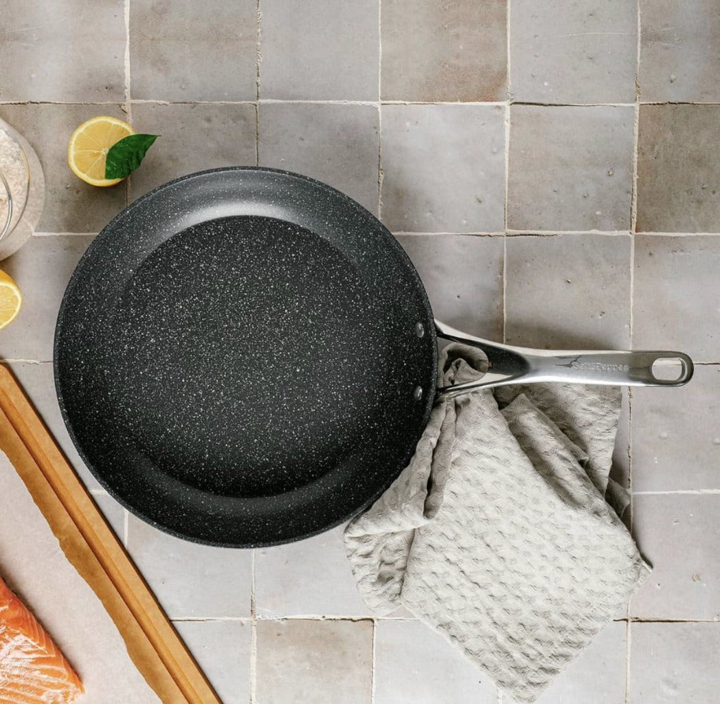 The TAN-IUM Cookware Set, developed by Salt&Pepper includes a range of pots and pans using cutting edge technology to increase durability and ease of use. Features a multi-layer QuanTanium non-stick coating. Oven safe up to 230°C. Shop online. AfterPay available. Australia wide Shipping | Bliss Gifts & Homewares - Unit 8, 259 Princes Hwy Ulladulla - 0427795959, 44541523
