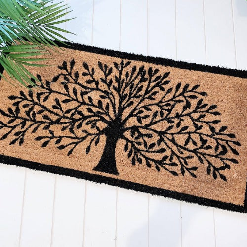 Style your front entrance, the first impression of your home, with our range of affordable door mats. Interesting, on trend designs in a variety of sizes, make finding a door mat to compliment your home easy. Tree of Life Doormat in an extra wide design. Bliss Gifts & Homewares- Your Home, Your BLISS x