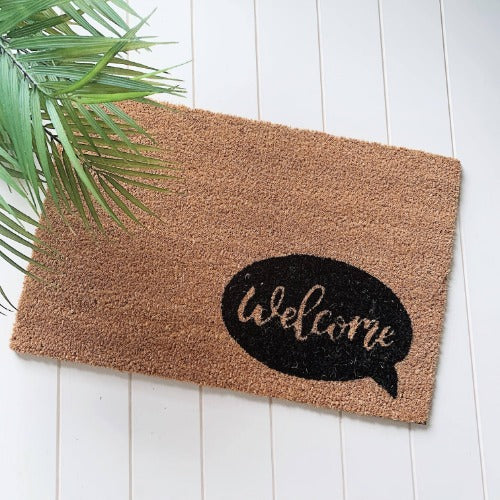 Style your front entrance, the first impression of your home, with our Welcome Door Mat from our range of affordable door mats. Interesting, on trend designs in a variety of sizes, make finding a door mat to compliment your home easy. Measures: 40x60x1cm. | Bliss Gifts & Homewares | Milton | Online | 0427795959 | Afterpay available