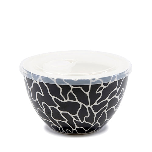 Lunch2Go Bowl with Lid – Wiggle - Salt&Pepper - airtight 15x9cm bowl in Wiggle - BPA-free lid with a vent - Microwave and dishwasher safe - porcelain bowl is ideal for work or travel. |Bliss Gifts & Homewares - Unit 8, 259 Princes Hwy Ulladulla - Shop Online & In store - 0427795959, 44541523 - Australia wide shipping