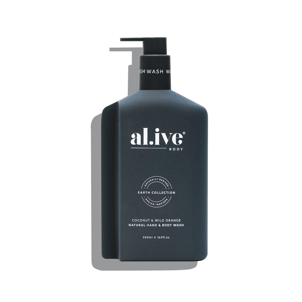 500ml Hand & Body Wash - Coconut & Wild Orange | al.ive body® - The al.ive body® range, combines product purity with designer aesthetics to stimulate your senses and shape your surroundings - Australian Made. | Bliss Gifts & Homewares - Unit 8, 259 Princes Hwy Ulladulla - Shop Online & In store - 0427795959, 44541523 - Australia wide shipping