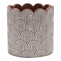 With curved rainbow arcs, our Arc Round Pot is a gorgeous planter to set in motion. On trend and generously sized ready for planting with drainage holes. Colour: White & Terracotta.| Bliss Gifts & Homewares | Unit 8, 259 Princes Hwy Ulladulla | South Coast NSW | Online Retail Gift & Homeware Shopping | 0427795959, 44541523
