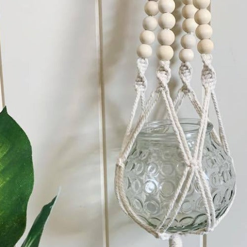 Perfect for injecting life into every corner of your home, our Beaded Macrame Hanging Planter features a vintage inspired design. Includes textured glass bowl. 67cm| Bliss Gifts & Homewares | Unit 8, 259 Princes Hwy Ulladulla | South Coast NSW | Online Retail Gift & Homeware Shopping | 0427795959, 44541523