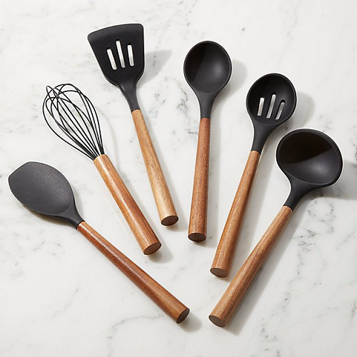 BIALETTI | St Clare | Acacia Handle Black Silicone Slotted Spoon | Bliss Gifts & Homewares | Milton | Online & In-store | 0427795959 | Afterpay available