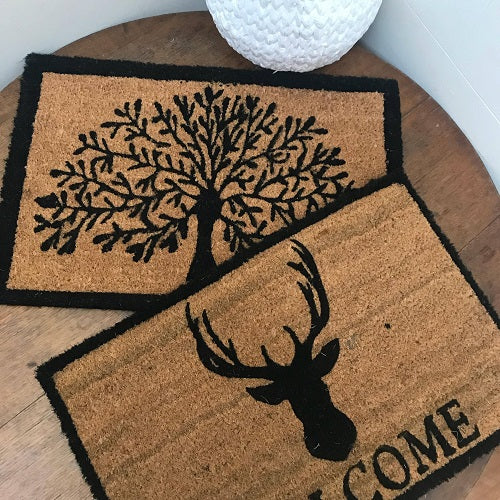 Black Framed Tree of Life Door Mat | Standard Size | Bliss Gifts & Homewares | Milton | Online & In-store | 0427795959 | Afterpay available