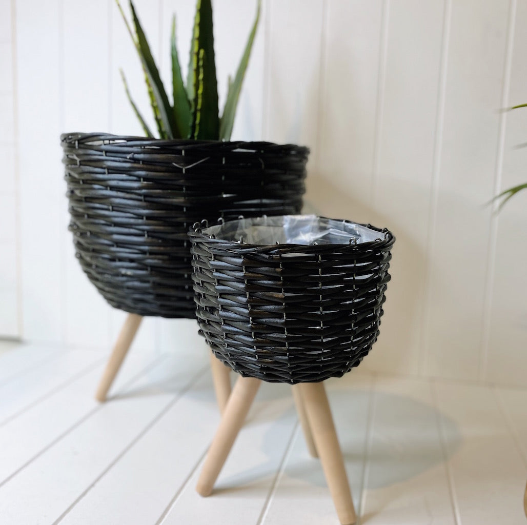 Elevate the look of your plant or floral display with our Black Wicker Pot Holder/planter. Indoor plants are on trend and our stylish Wicker planters are perfect for showing off your gorgeous greenery.| Bliss Gifts & Homewares | Unit 8, 259 Princes Hwy Ulladulla | South Coast NSW | Online Retail Gift & Homeware Shopping | 0427795959, 44541523