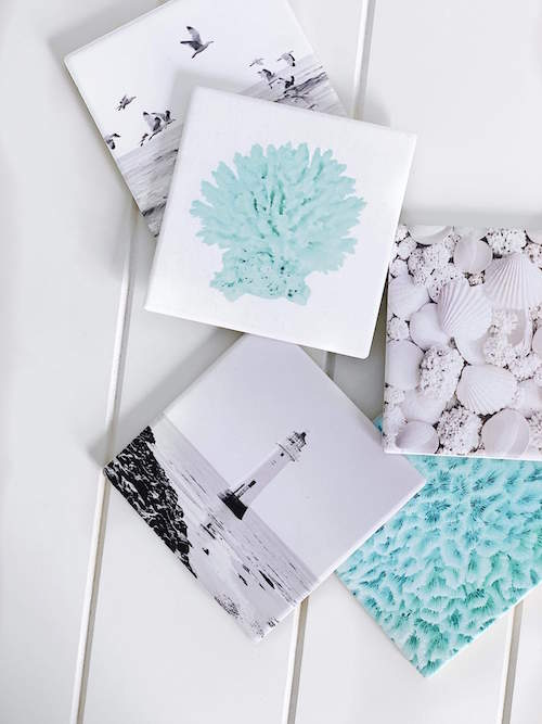 Splosh | Coastal 'Pattern Ceramic Coaster| Bliss Gifts & Homewares | Unit 8, 259 Princes Hwy Ulladulla | South Coast NSW | Online Retail Gift & Homeware Shopping | 0427795959, 44541523