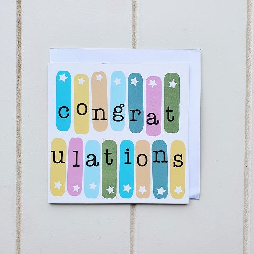 We believe in taking ever opportunity to celebrate and our fun and bright Congratulations Greeting Card will help you do so. With Congratulations written on the inside all you need to do is add a personal message and you can help someone Celebrate any occasion | Bliss Gifts & Homewares | Unit 8, 259 Princes Hwy Ulladulla | South Coast NSW | Online Retail Gift & Homeware Shopping | 0427795959, 44541523