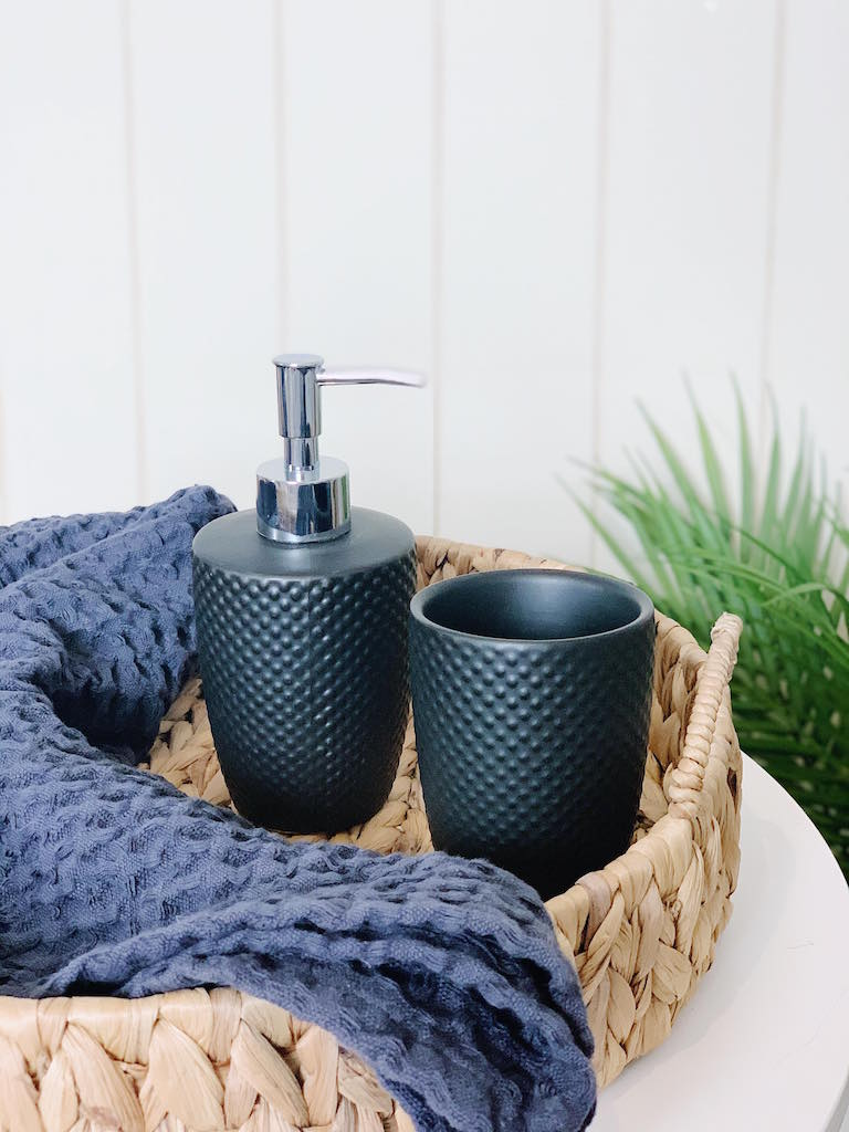 Salt&Pepper | EMBOSS | Tumbler | Bathroom Accessories | Stockists of Salt & Pepper | Bliss Gifts & Homewares | Unit 8, 259 Princes Hwy Ulladulla | South Coast NSW | Online Retail Gift & Homeware Shopping | 0427795959, 44541523