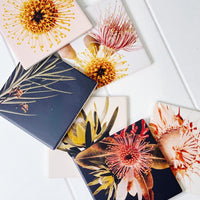 Our Flourish Ceramic Coaster - Sunflower is inspired by the beauty of nature. The Flourish Homewares Range features budding blossoms, wild flowers, and soft, natural textures that tie beautifully into any home.| Bliss Gifts & Homewares | Unit 8, 259 Princes Hwy Ulladulla | South Coast NSW | Online Retail Gift & Homeware Shopping | 0427795959, 44541523