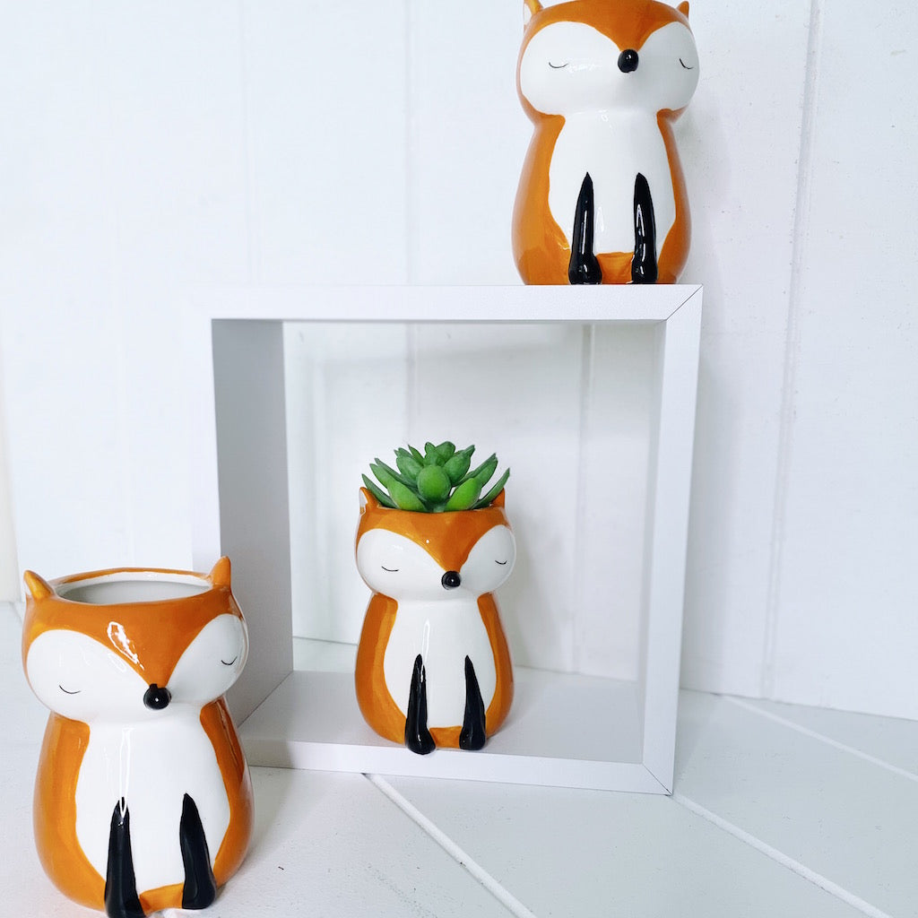 Fox Pot | Pots and Planters| Bliss Gifts & Homewares | Unit 8, 259 Princes Hwy Ulladulla | South Coast NSW | Online Retail Gift & Homeware Shopping | 0427795959, 44541523