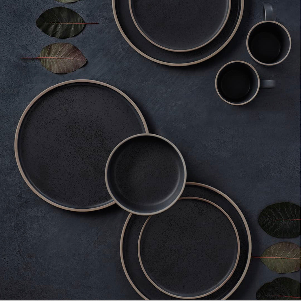 S&P | HANA Dinner 12 Piece Set - Black | Stone | 46 x 21 cm | Stockists of Salt & Pepper| Bliss Gifts & Homewares | Unit 8, 259 Princes Hwy Ulladulla | South Coast NSW | Online Retail Gift & Homeware Shopping | 0427795959, 44541523