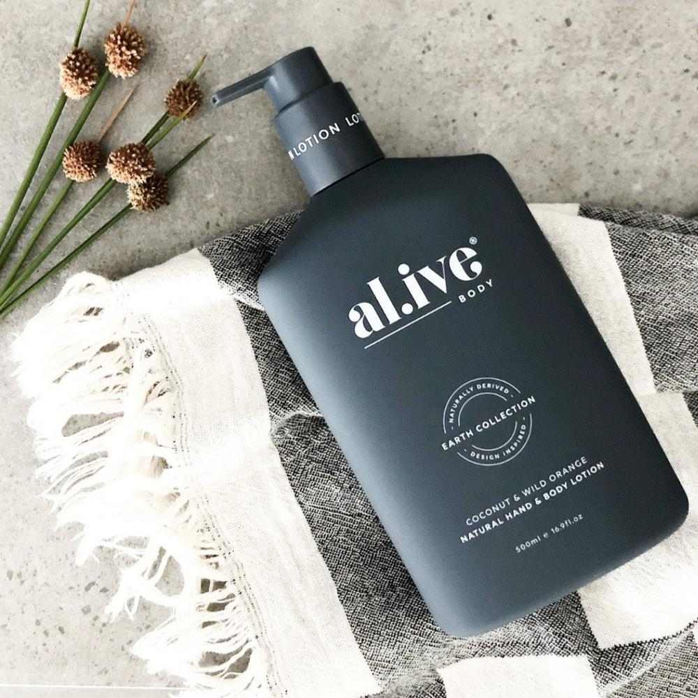 500ml Hand & Body Lotion - Coconut & Wild Orange | al.ive body® - The al.ive body® range, combines product purity with designer aesthetics to stimulate your senses and shape your surroundings - Australian Made. | Bliss Gifts & Homewares - Unit 8, 259 Princes Hwy Ulladulla - Shop Online & In store - 0427795959, 44541523 - Australia wide shipping