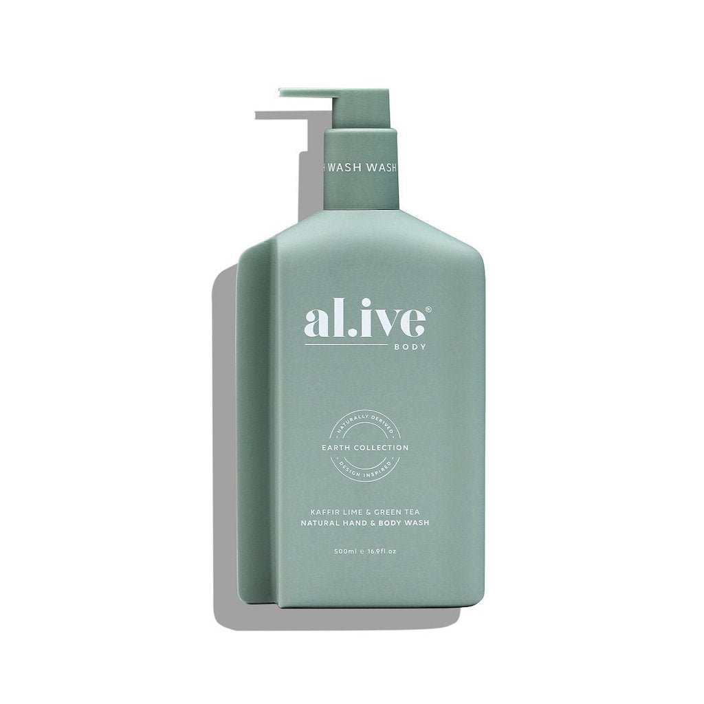 500ml Hand & Body Wash - Kaffir Lime & Green Tea | al.ive body® - The al.ive body® range, combines product purity with designer aesthetics to stimulate your senses and shape your surroundings - Australian Made. | Bliss Gifts & Homewares - Unit 8, 259 Princes Hwy Ulladulla - Shop Online & In store - 0427795959, 44541523 - Australia wide shipping