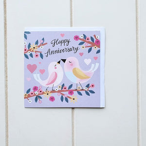 Help your loved one or a couple of Love Birds celebrate their Anniversary with our gorgeous Happy Anniversary Bird Greeting Card. Perfect for friends, family members or that special someone who you tied the knot with all those many years ago! Blank on the inside | Bliss Gifts & Homewares | Unit 8, 259 Princes Hwy Ulladulla | South Coast NSW | Online Retail Gift & Homeware Shopping | 0427795959, 44541523
