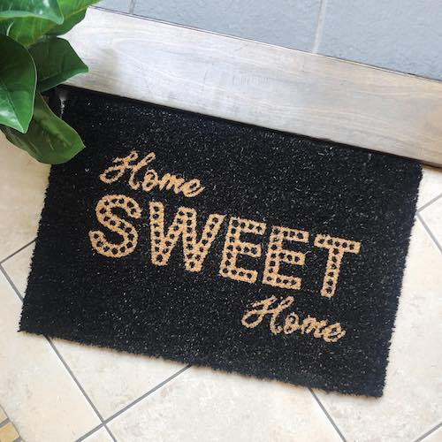 Home Sweet Home Door Mat | Standard Size | Bliss Gifts & Homewares | Milton | Online & In-store | 0427795959 | Afterpay available
