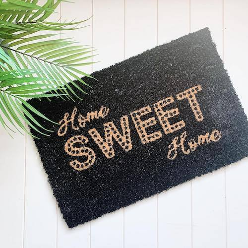 Coir Door Mat | Home Sweet Home Door Mat | W40 x L60 | Standard Size | Bliss Gifts & Homewares | Milton | Online & In-store | 0427795959 | Afterpay available