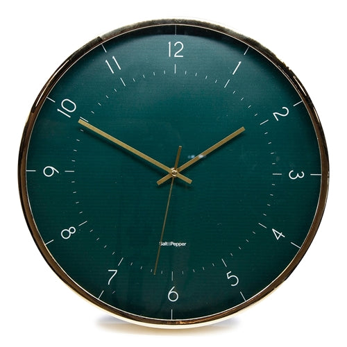 Accessorise your home and express your personality with the JASPER Clock, a part of the Salt&Pepper ZONE collection. The 40cm clock with its stunning emerald coloured face, gold hands and rim will be the talking point of any room. The affordable wall clock is an easy way to refresh your kitchen or lounge room| Bliss Gifts & Homewares | Unit 8, 259 Princes Hwy Ulladulla | South Coast NSW | Online Retail Gift & Homeware Shopping | 0427795959, 44541523