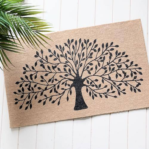 Jute Tree of Life | Indoor Non Slip Mat | Standard Size | Bliss Gifts & Homewares | Milton | Online & In-store | 0427795959 | Afterpay available