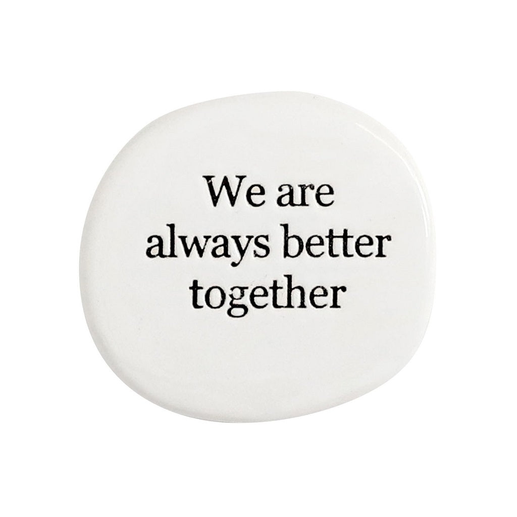 "Make the journey of life even sweeter with our ""Together Life"" stamped ceramic magnet from the Life Magnet range. 5x5x0.5cm. Uniquely shaped. Unglazed verse. Shop online or instore. AfterPay available. Australia wide Shipping. 