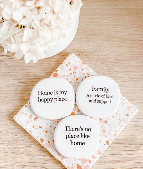 "Make the journey of life even sweeter with our ""Family"" stamped ceramic magnet from the Life Magnet range. 5x5x0.5cm. Uniquely shaped. Unglazed verse. Shop online or instore. AfterPay available. Australia wide Shipping. 
