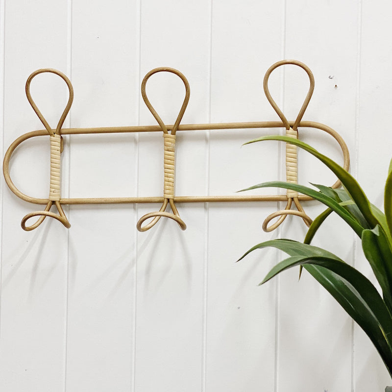 Bring a beach vibe home and transform your entryway into a tidy and stylish space with our High St Luna 3 Hook Wall Hanging. Natural look. Made from Metal. 48x7x23cm. Shop online or instore. AfterPay available. Australia wide Shipping. | Bliss Gifts & Homewares | Unit 8, 259 Princes Hwy Ulladulla | South Coast NSW | 0427795959, 44541523