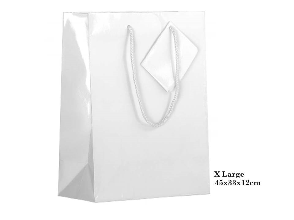 Give your loved ones a gift with our Matte White Gift Bag in XLarge. Available in multiple sizes to fit your gift perfectly. 45x33x12cm.| Bliss Gifts & Homewares | Unit 8, 259 Princes Hwy Ulladulla | South Coast NSW | Online Retail Gift & Homeware Shopping | 0427795959, 44541523