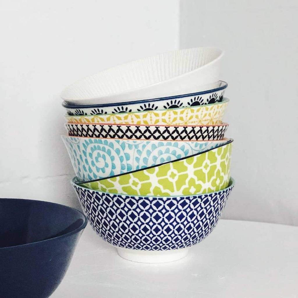 Moroccan Style Medium Bowl – perfect for cereal, porridge, entree soup or a serve of ice cream - Moroccan Style Dinnerware - Mix & Match - 15.5cmW x 6cmH - wide range of colours and patterns - Commercial Grade quality - Patterns Picked at random | Bliss Gifts & Homewares - Unit 8, 259 Princes Hwy Ulladulla - Shop Online - 0427795959, 44541523 - Australia wide shipping – AfterPay Available