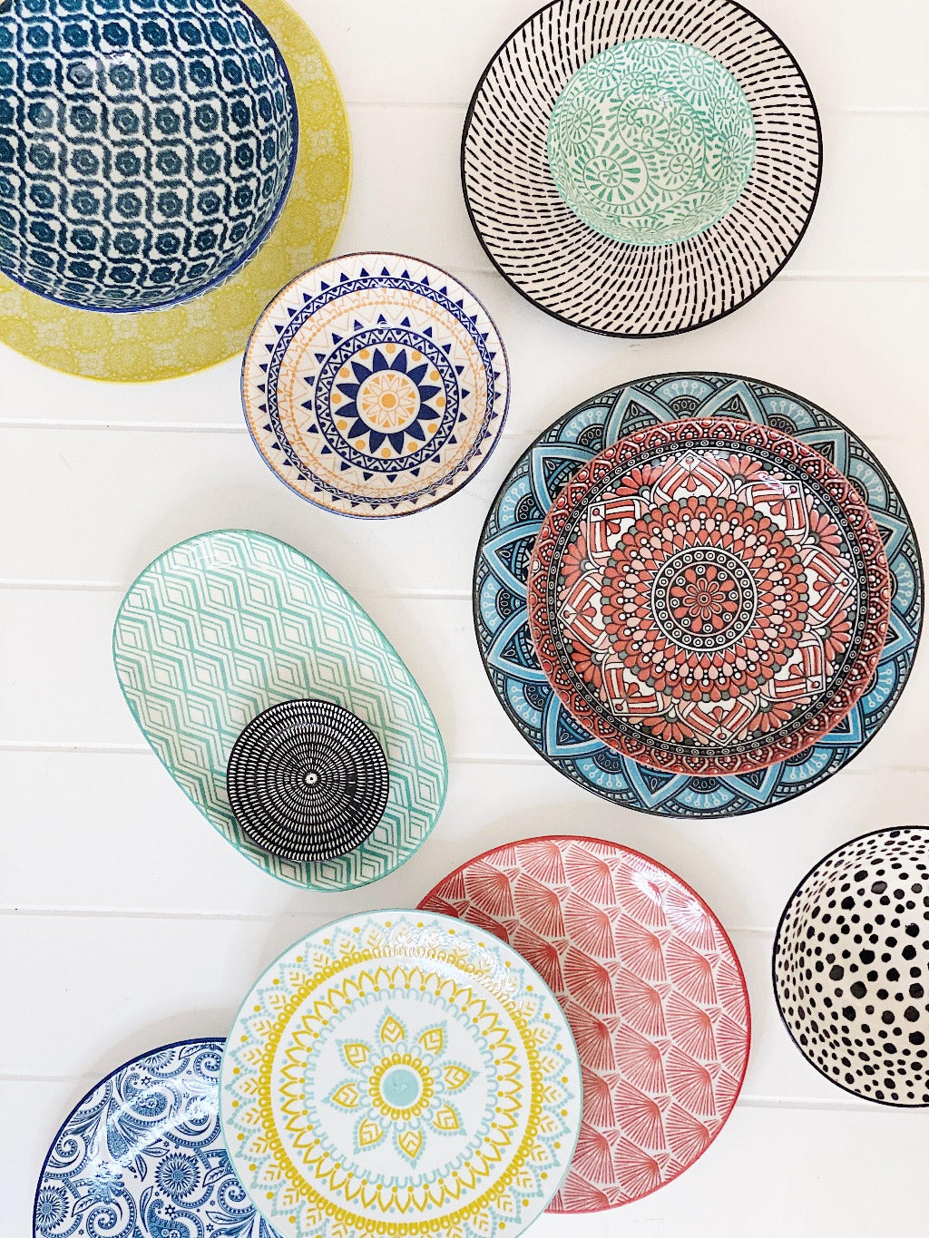 Moroccan Style Oval Plater – perfect for biscuits, desserts, skewers or a side salad - Moroccan Style Dinnerware - Mix & Match - 24cm(L)x15.5cm(W)x3cm(H) - wide range of colours and patterns - Commercial Grade quality - Patterns Picked at random | Bliss Gifts & Homewares - Unit 8, 259 Princes Hwy Ulladulla - Shop Online - 0427795959, 44541523 - Australia wide shipping – AfterPay Available