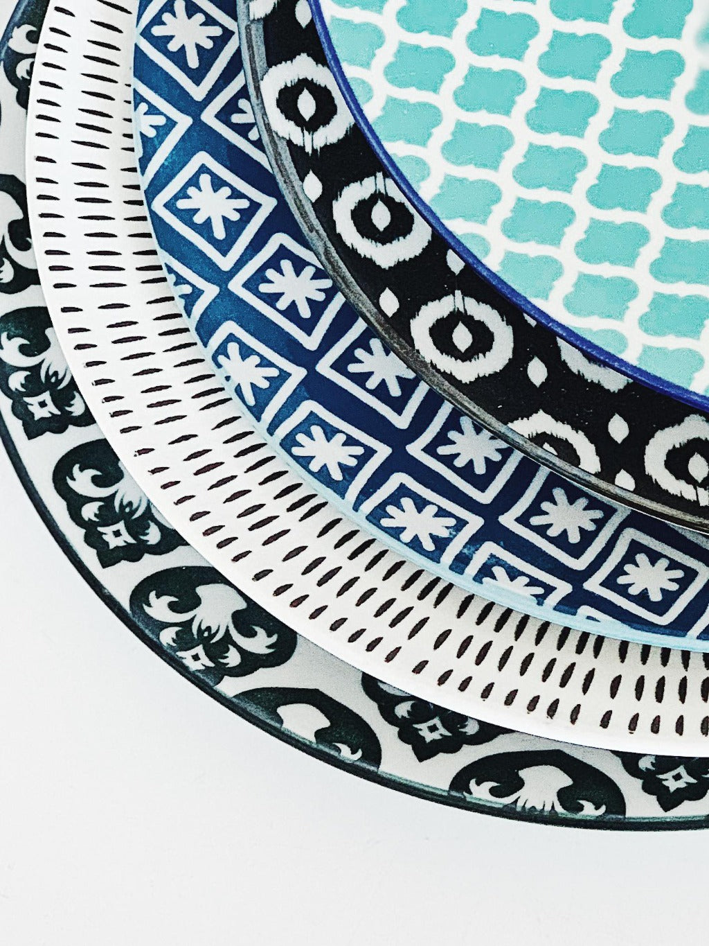 Moroccan Style Dinner Plate Large – perfect for serving dinner or large meals - Moroccan Style Dinnerware - Mix & Match - 27cmW x 2cmH - wide range of colours and patterns - Commercial Grade quality - Patterns Picked at random |Bliss Gifts & Homewares - Unit 8, 259 Princes Hwy Ulladulla - Shop Online - 0427795959, 44541523 - Australia wide shipping – AfterPay Available