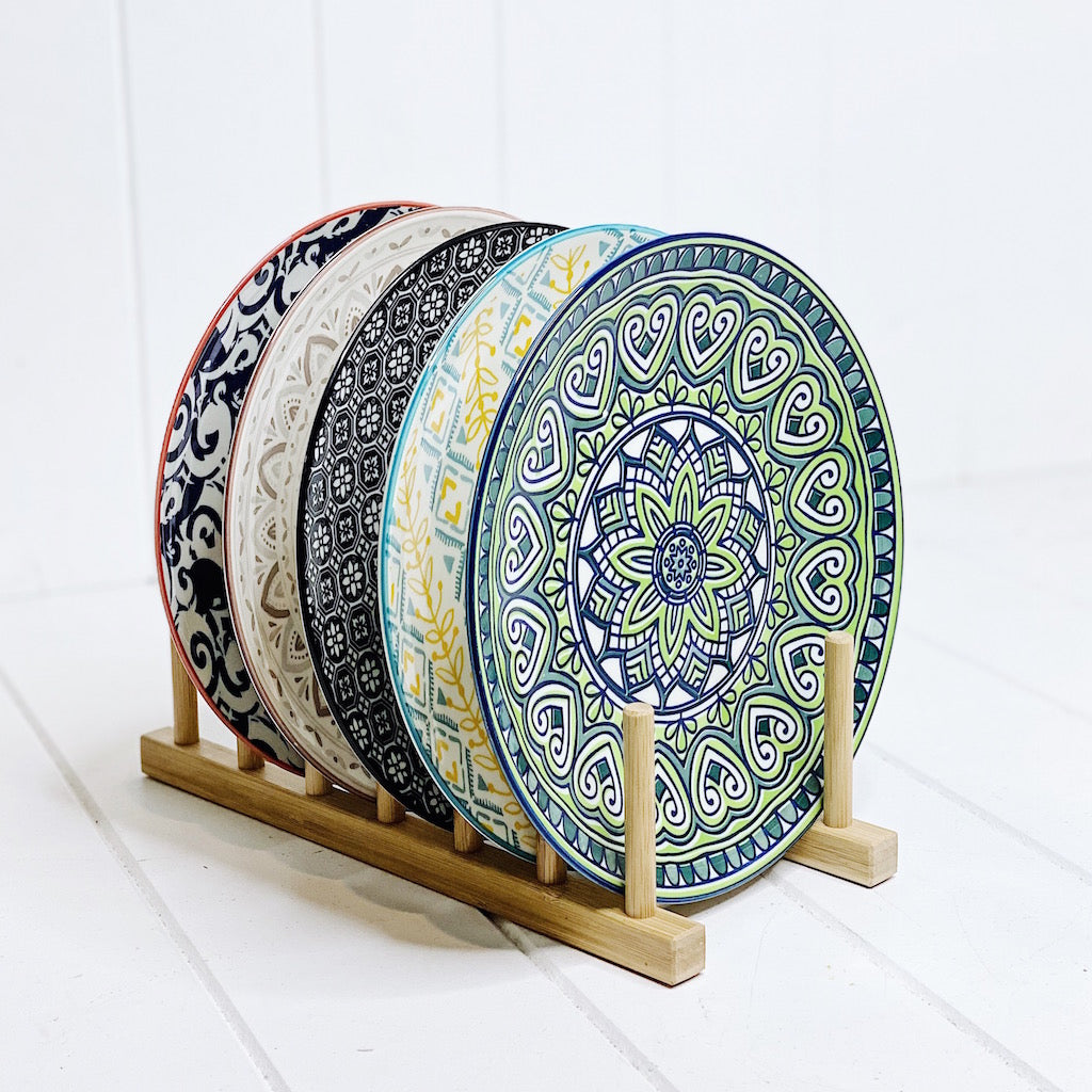 Moroccan Dinner Plate Small - Moroccan Dinnerware - Mix & Match - 22cmW x 2cmH - wide range of colours and patterns - mix and match - Commercial Grade quality - Patterns Picked at random |Bliss Gifts & Homewares - Unit 8, 259 Princes Hwy Ulladulla - Shop Online & In store - 0427795959, 44541523 - Australia wide shipping