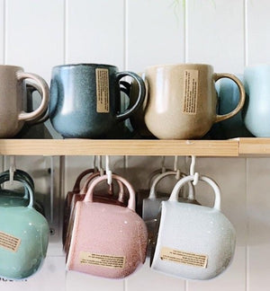 Enjoy the daily ritual of drinking tea and coffee with your own stoneware NAOKO Mug in Aqua 380ml. Bliss Gifts & Homewares - Stockist of S&P products. Online & In-store. AfterPay now available.