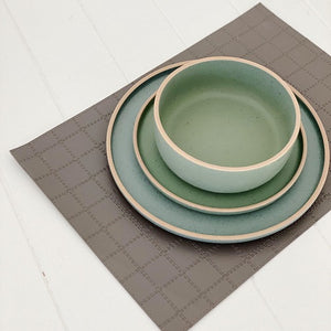 Stylish and sophisticated, this PVC Leather Look Checks Placemat is a desirable choice for adding modern appeal and high style to arrange your dinnerware on. The placemat's surface, crafted of faux leather, makes it effortless to entertain your guests with style. Measures: 43x30cm. | Bliss Gifts & Homewares | Unit 8, 259 Princes Hwy Ulladulla | South Coast NSW | Online Retail Gift & Homeware Shopping | 0427795959, 44541523