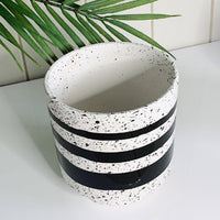 Ramona Flower Pot | Black and White | 4 patterns Spot, Stripe, Zig-zag, Rainbow | Bliss Gifts & Homewares | Milton | Online & In-store | 0427795959 | Afterpay available