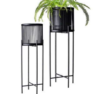 The RHYTHM Plant Stand by S&P, features a metal base and a stunning black bamboo basket creating interest and height to your favourite indoor plants. Large: 35x100cm. Small: 35x80cm. Stockist of S&P products. | Bliss Gifts & Homewares | Unit 8, 259 Princes Hwy Ulladulla | South Coast NSW | Online Retail Gift & Homeware Shopping | 0427795959, 44541523