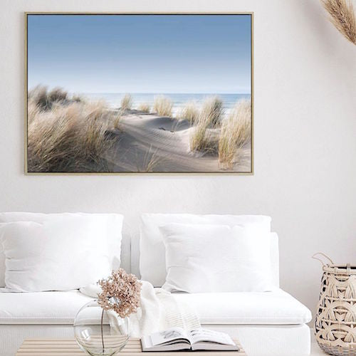 Are bare walls getting the better of you? Transform that dreary den, stale master suite, or boring bathroom with a piece of wall art, like this! A great way to round out your ensemble with a beachy touch, this Seaside Retreat Canvas print features a pathway down to a serene shoreline lined with seagrass.| Bliss Gifts & Homewares | Unit 8, 259 Princes Hwy Ulladulla | South Coast NSW | Online Retail Gift & Homeware Shopping | 0427795959, 44541523